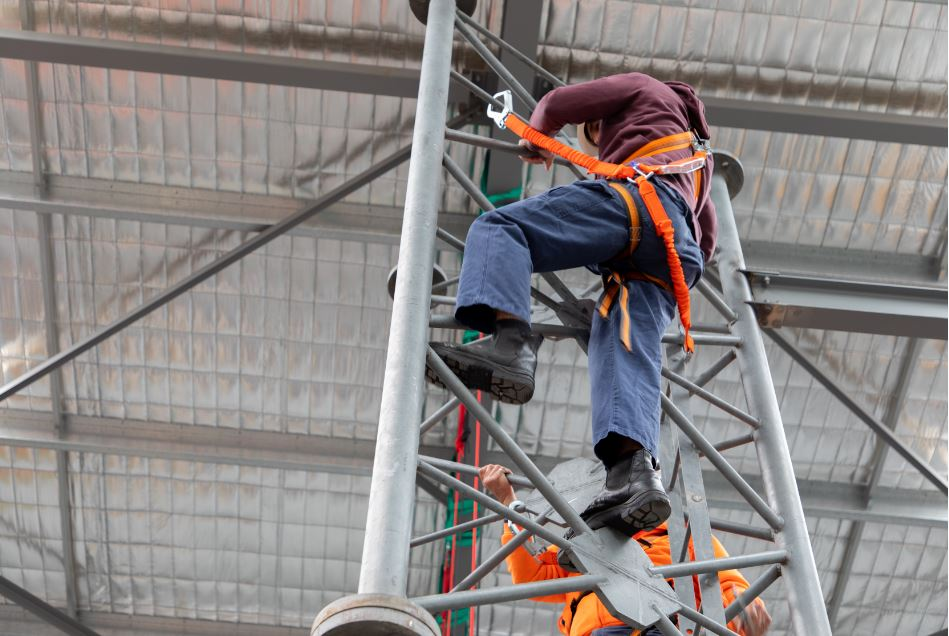 When is working at heights training required?