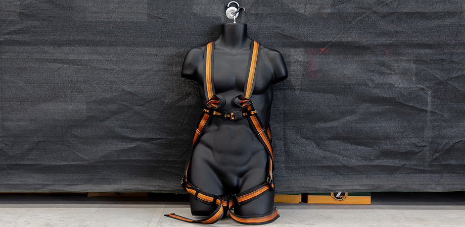 Skylotec fall arrest harness included in the Height Safety Engineers Roofer's Kit.