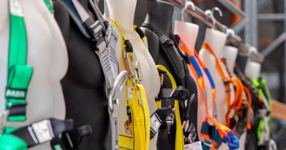 What PPE is required when working at heights?